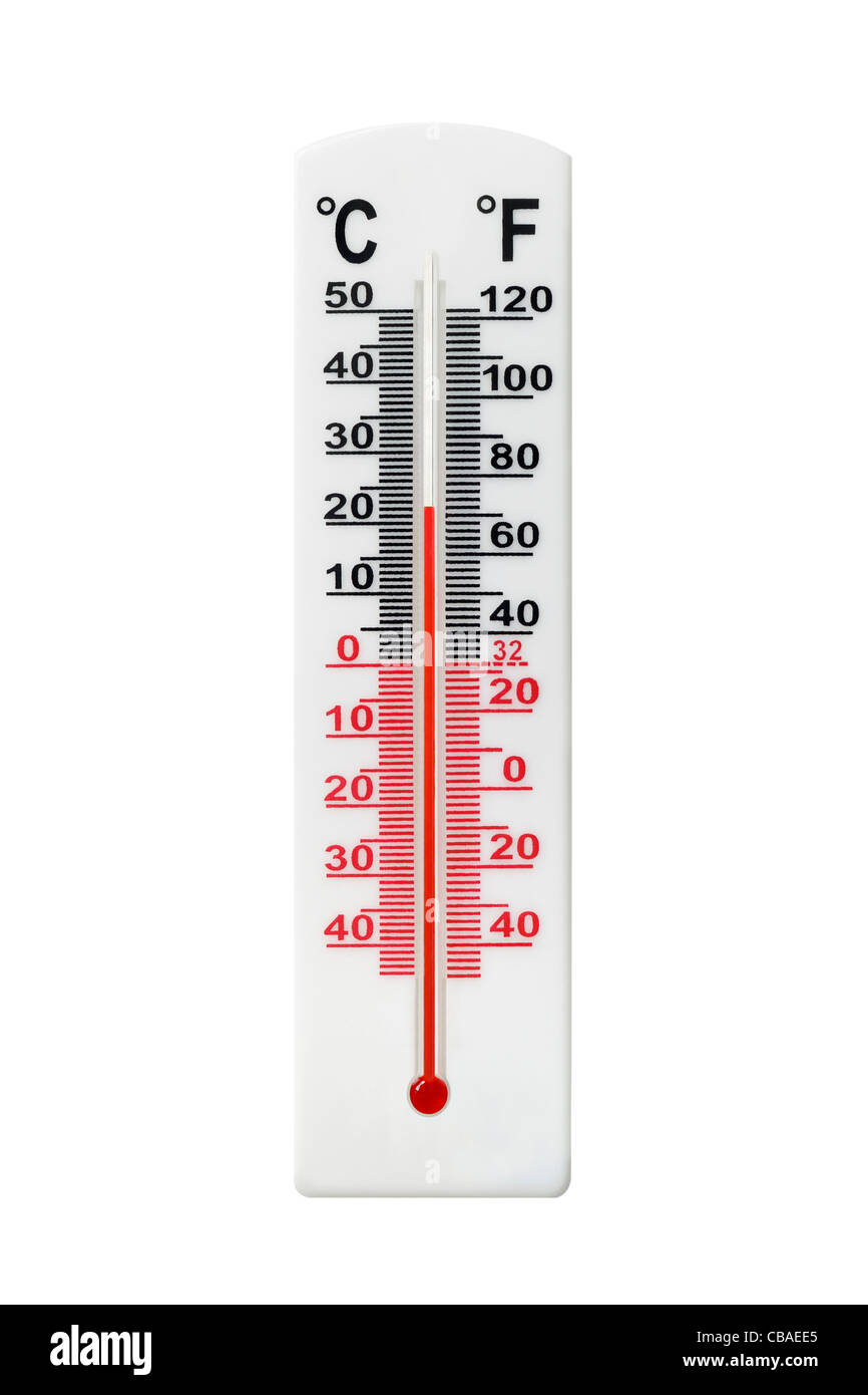 Thermometer Cut Out - Stock Image