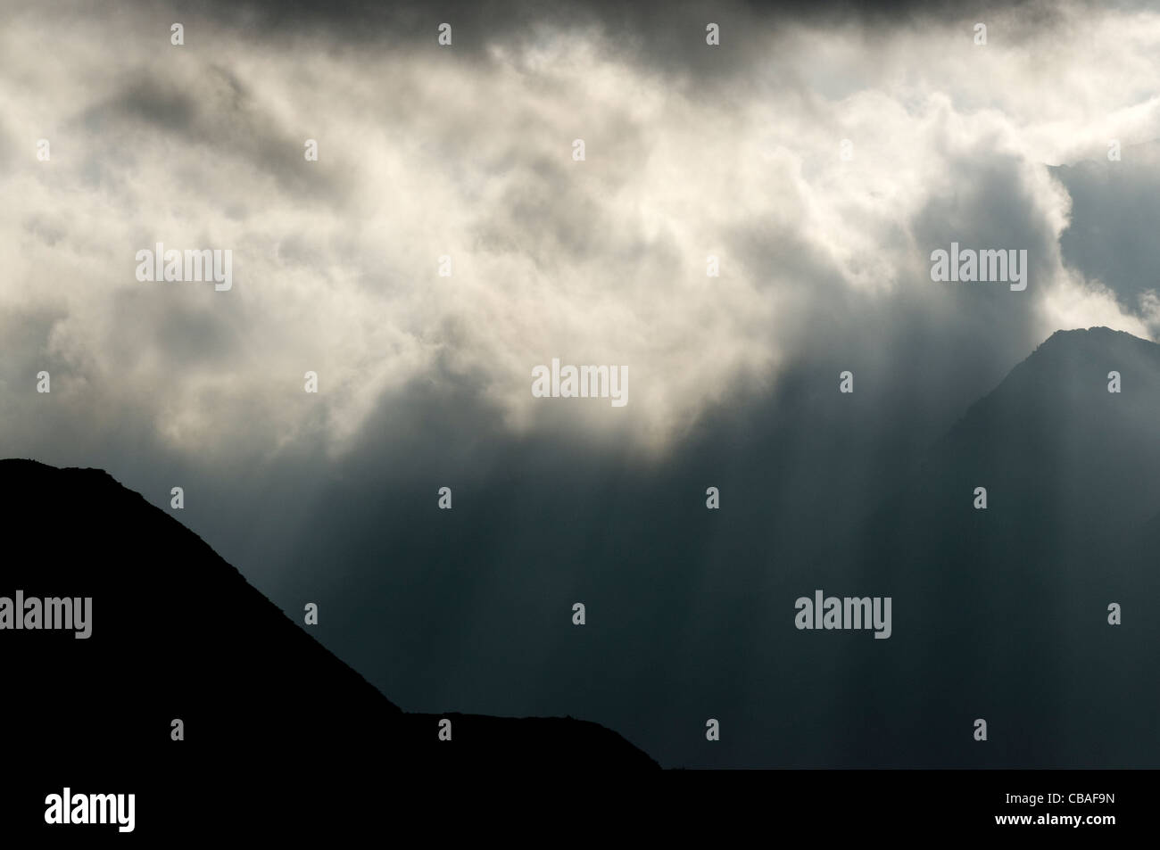 The Snowdon Massif, Snowdonia. Stock Photo