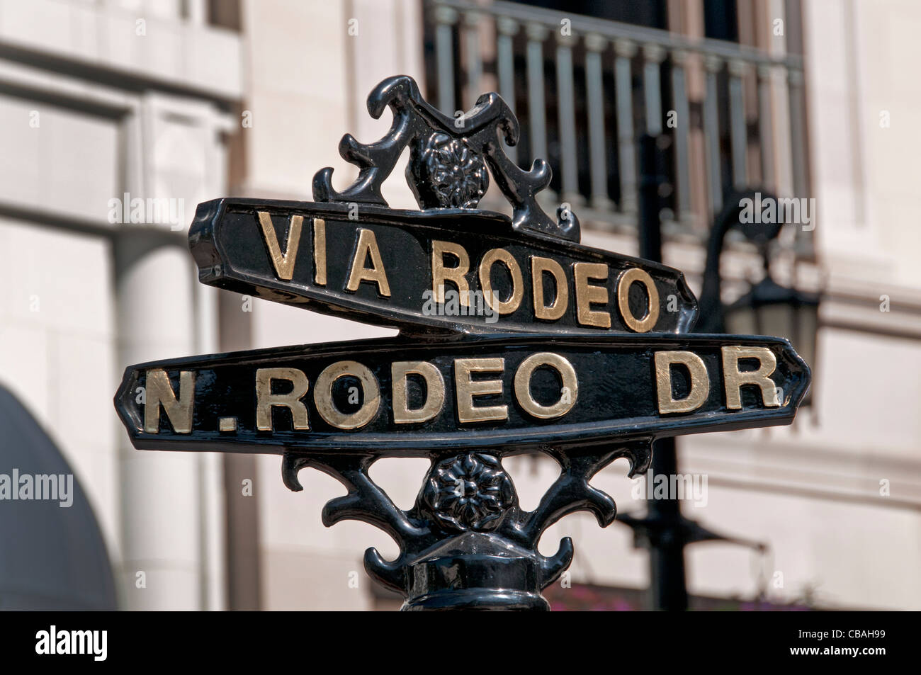 Via Rodeo Drive boutiques shops Beverly Hills Los Angeles California United States - Stock Image