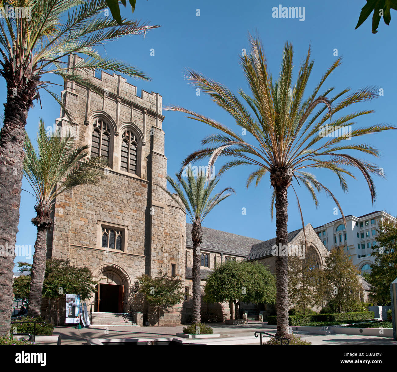 All Saints Church Pasadena California United States of America American USA Town City Los Angeles - Stock Image