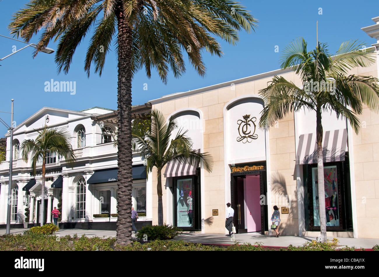 Juicy Couture Fashion shop Rodeo Drive boutiques shops Beverly Hills Los Angeles California United States - Stock Image