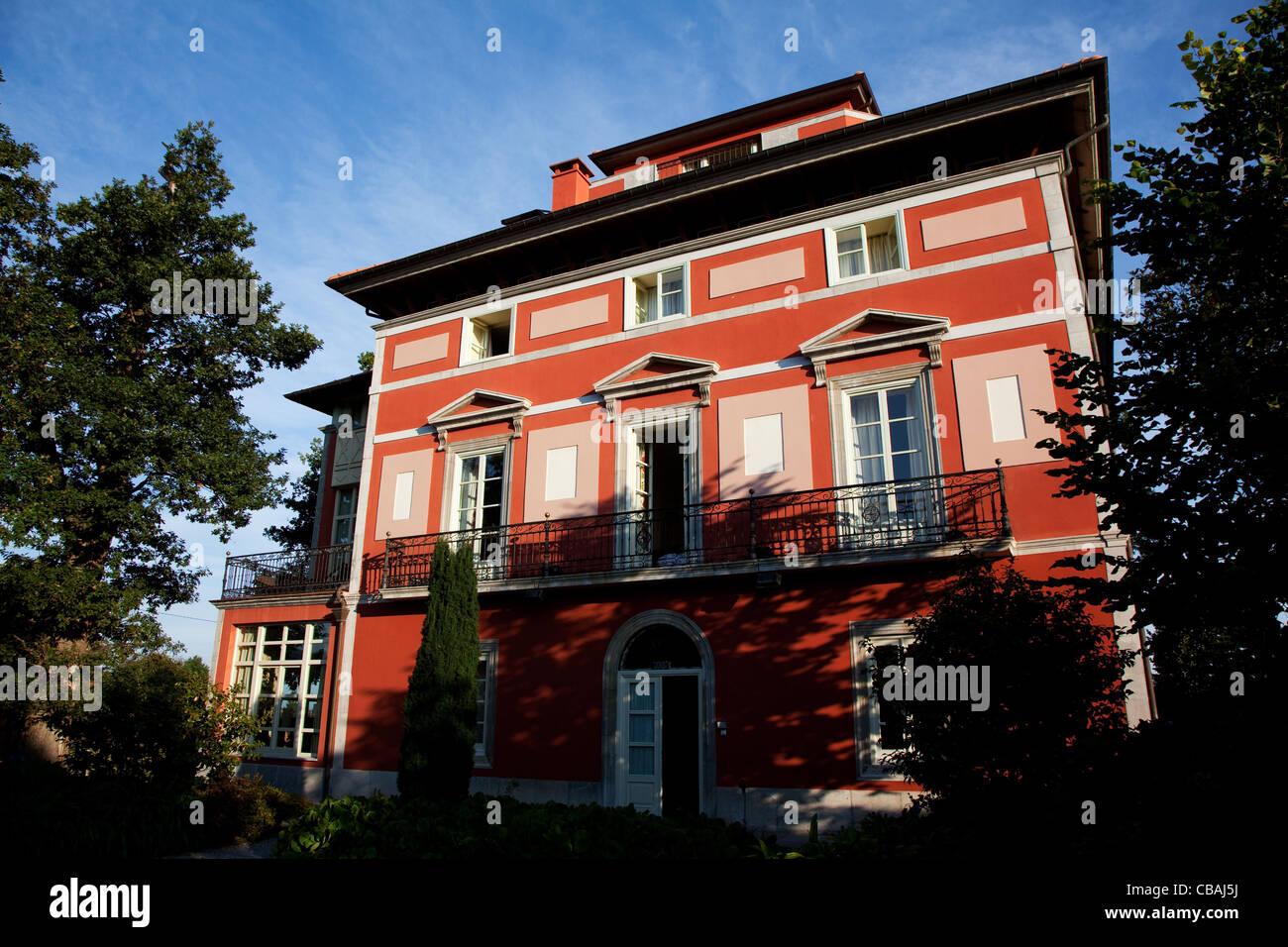 hotel Casona de la Paca in Cudillero, Asturias, Spain - Stock Image