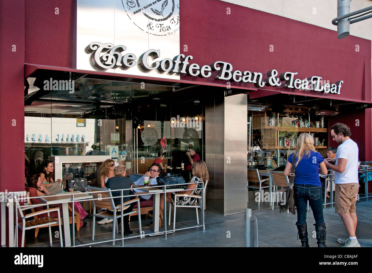 The Coffee Bean & Tea Leaf Rodeo Drive boutiques shops Beverly Hills Los Angeles California United States - Stock Image