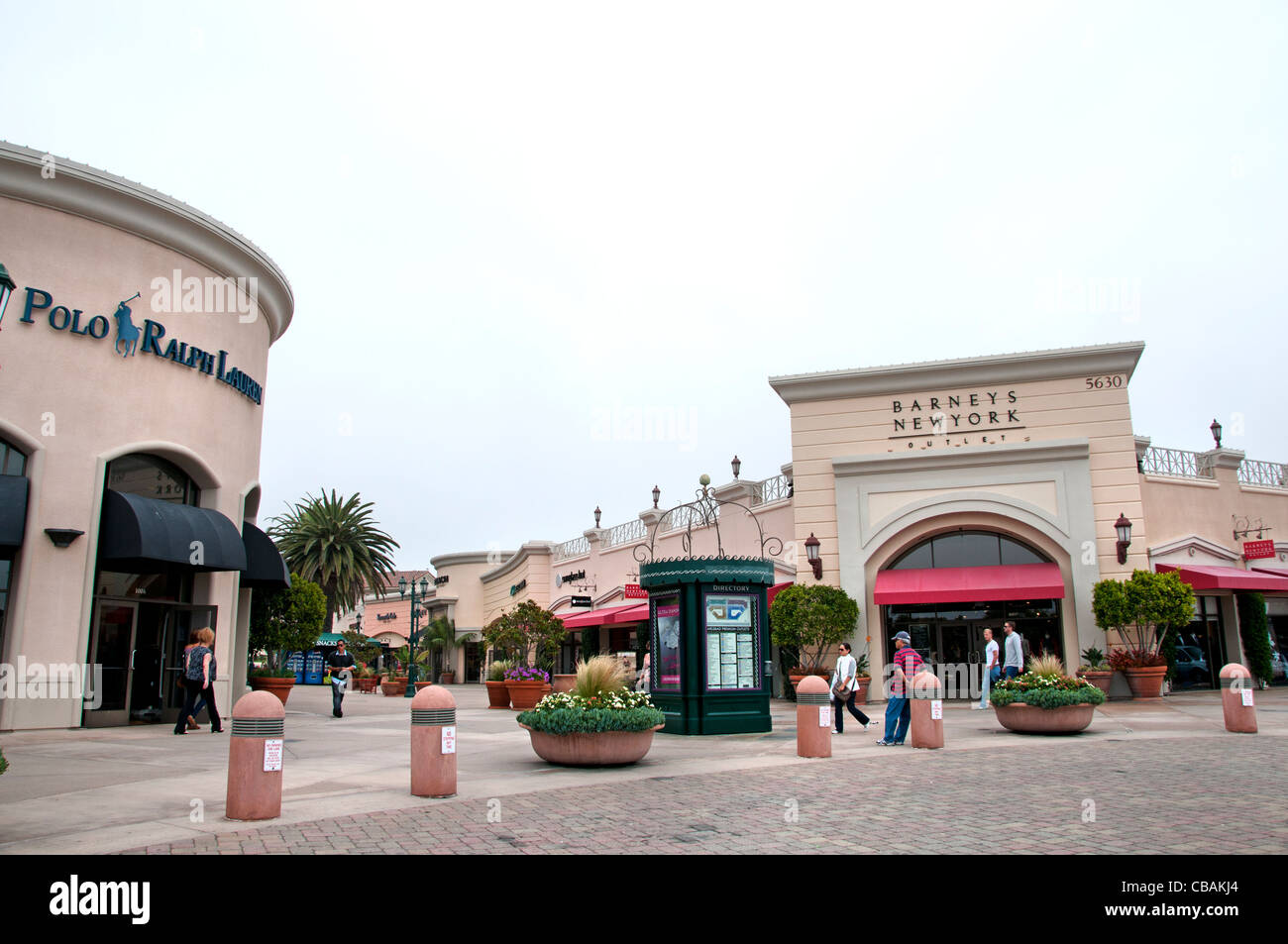 Ralph Lauren Barneys New York Carlsbad Premium Outlets California United States Shopping Mall - Stock Image