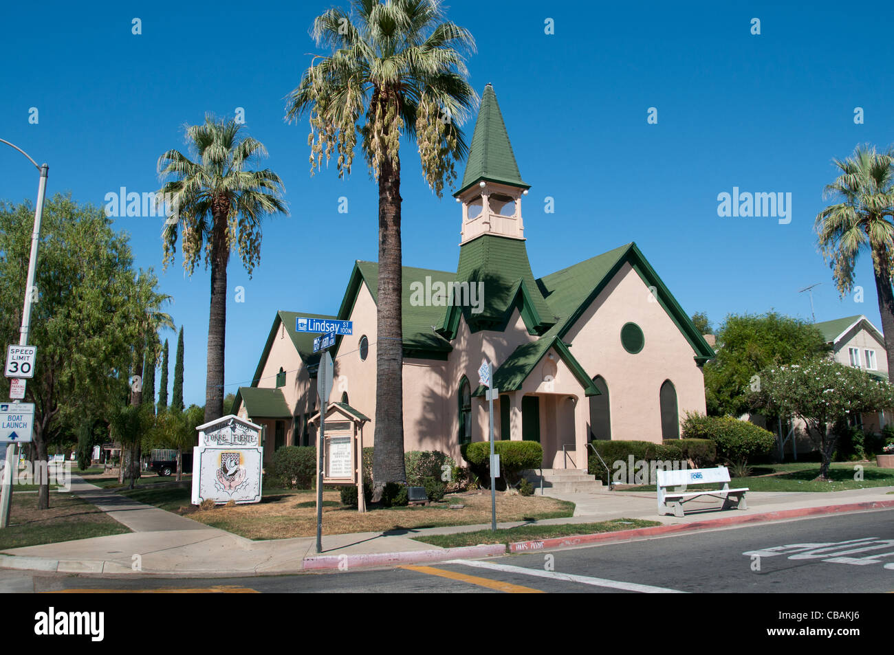 Church Lake Elsinore California United States of America - Stock Image