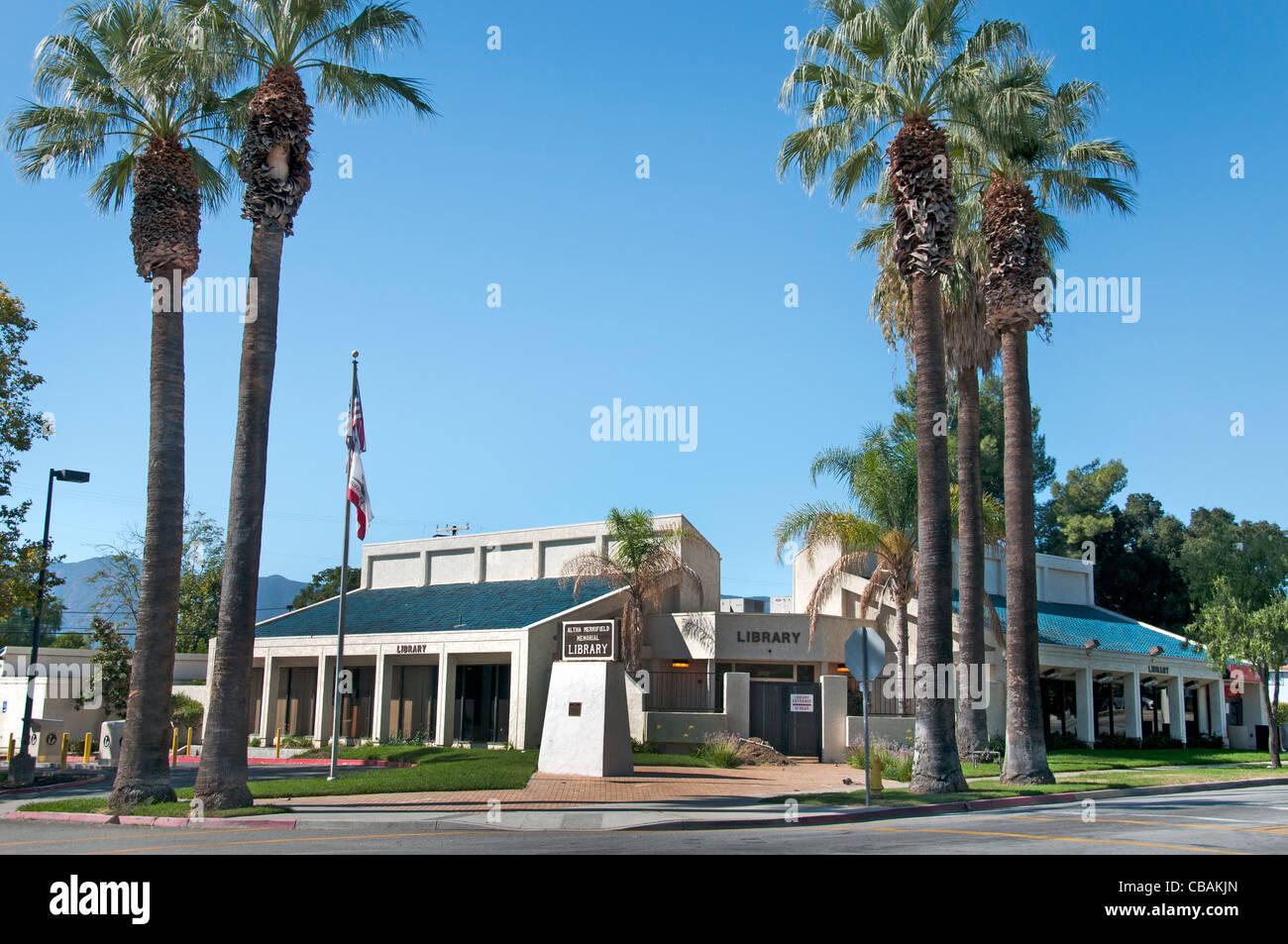 Library Lake Elsinore California United States of America Stock Photo