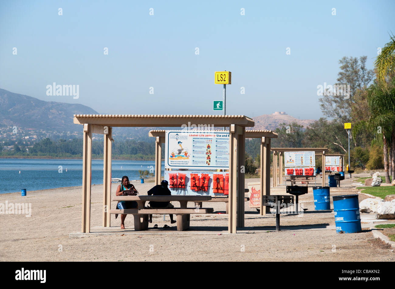 Lake Elsinore Beach California United States of America American - Stock Image