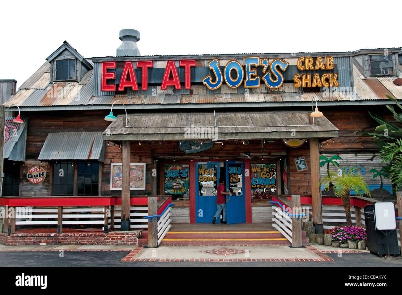 Eat at Joe's Crab Shack Long Beach California United States - Stock Image
