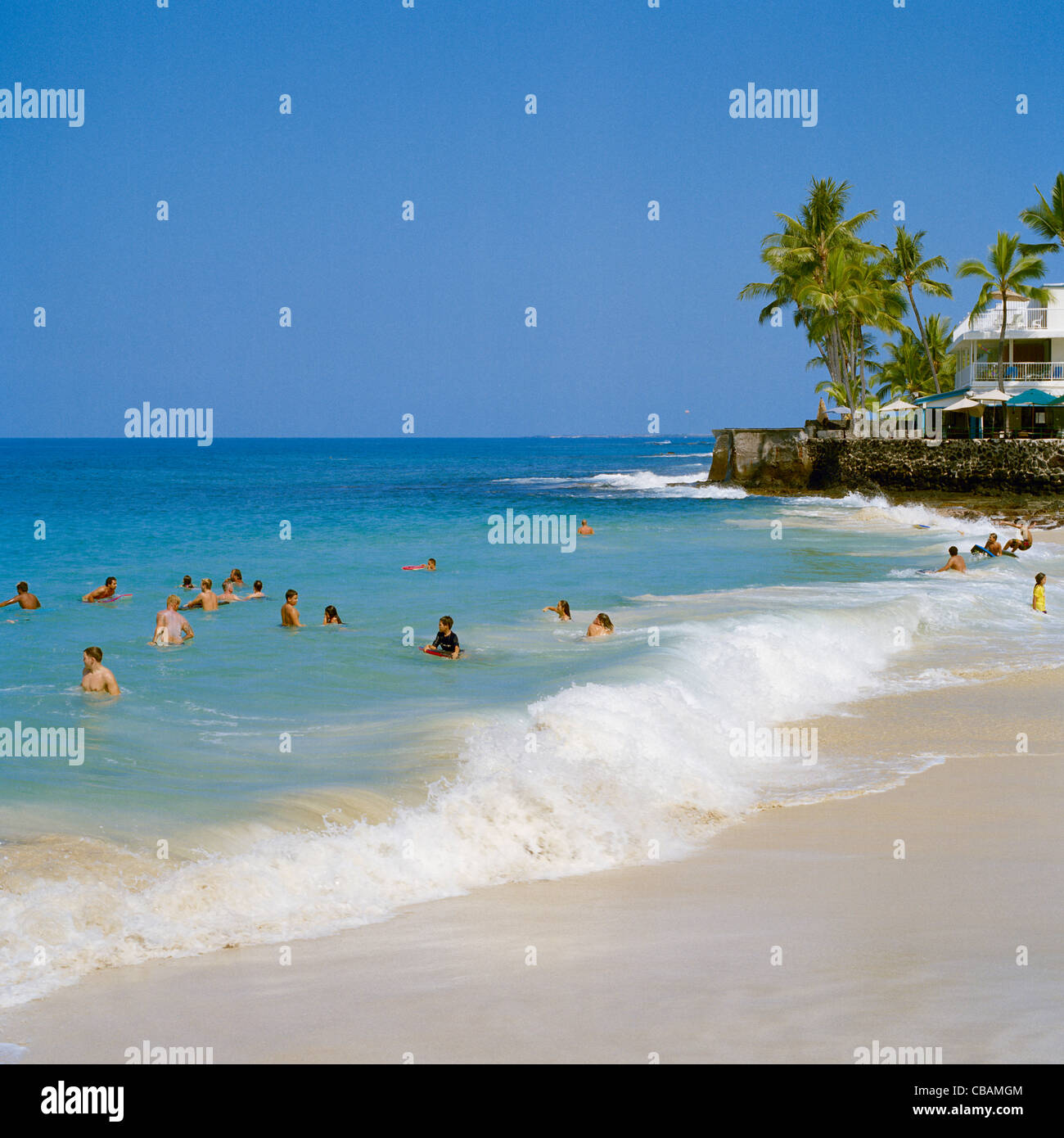 Big Island Beaches: White Sands Beach Kona Coast Big Island Hawaii Stock Photo