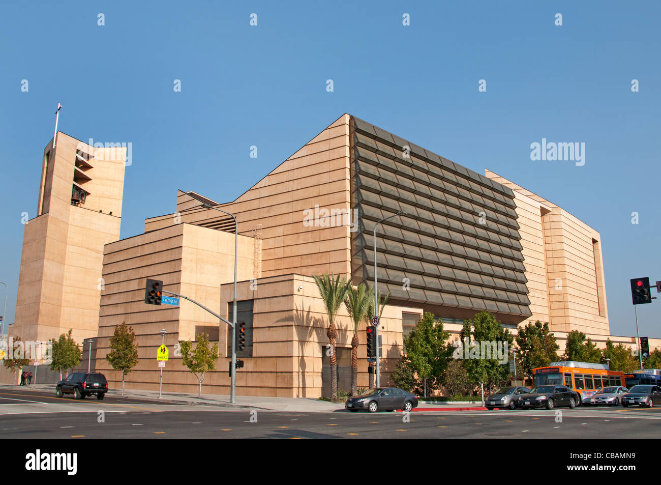 Cathedral of Our Lady of the Angles Los Angeles United States of America California American USA - Stock Image