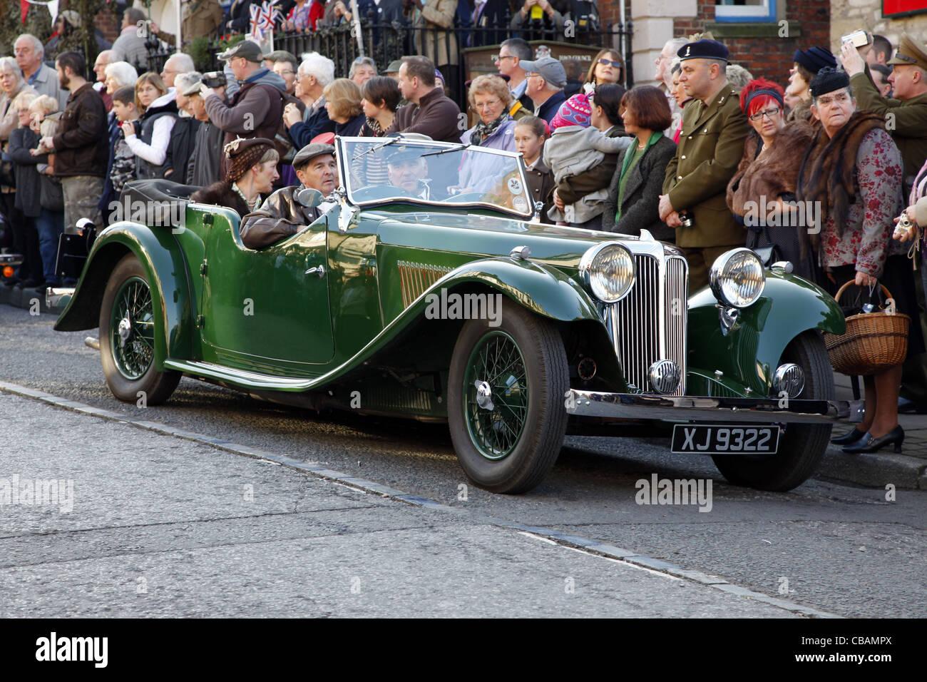 1933 SSI JAGUAR CAR PICKERING NORTH YORKSHIRE 15 October 2011 - Stock Image