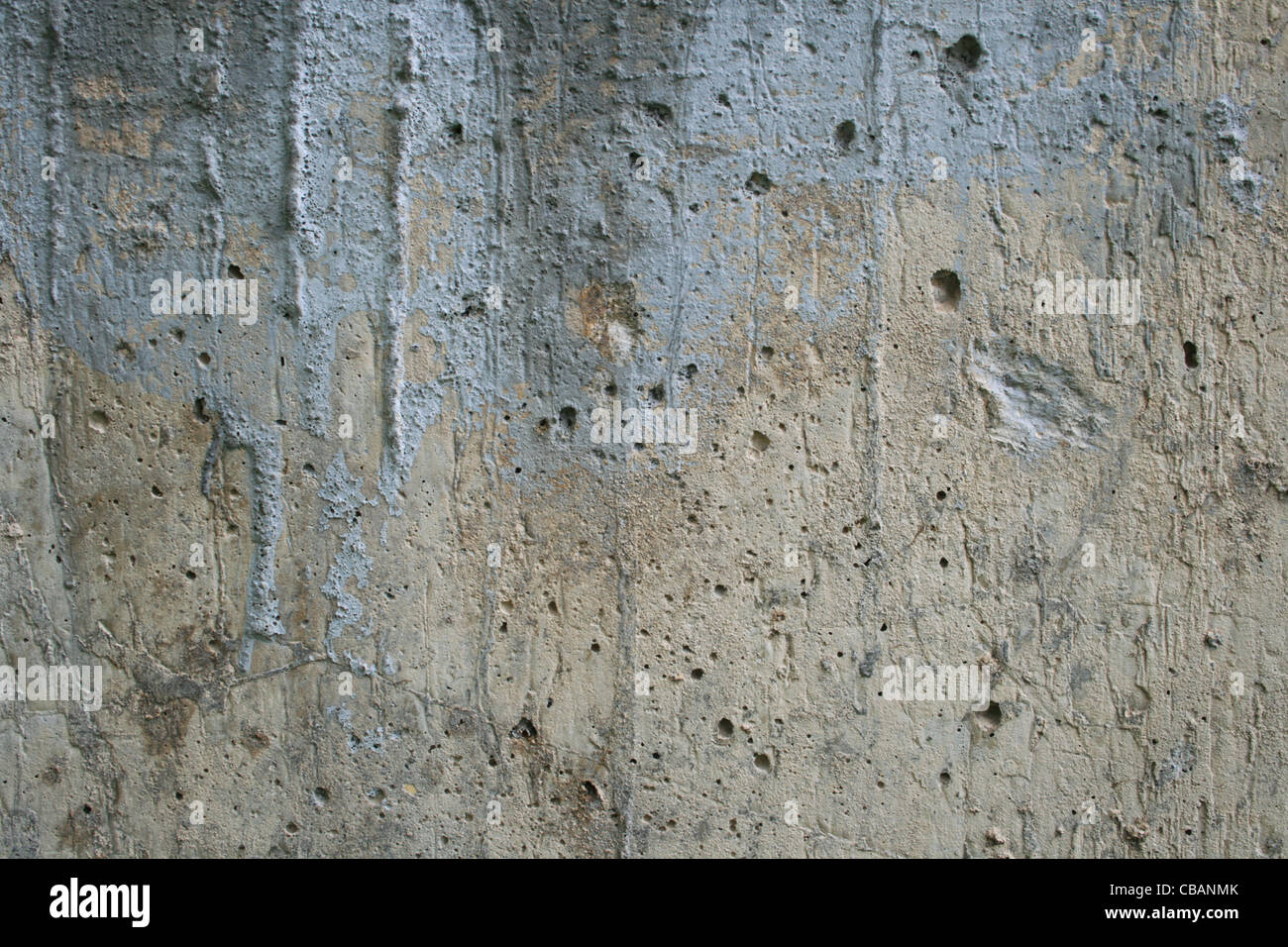 grunge style industrial cement texture with stains - Stock Image