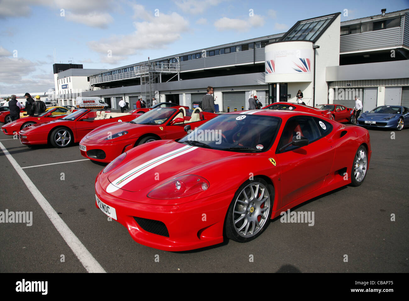 Red Ferrari 360 Challenge Stradale Car Silverstone Circuit England 14 Stock Photo Alamy