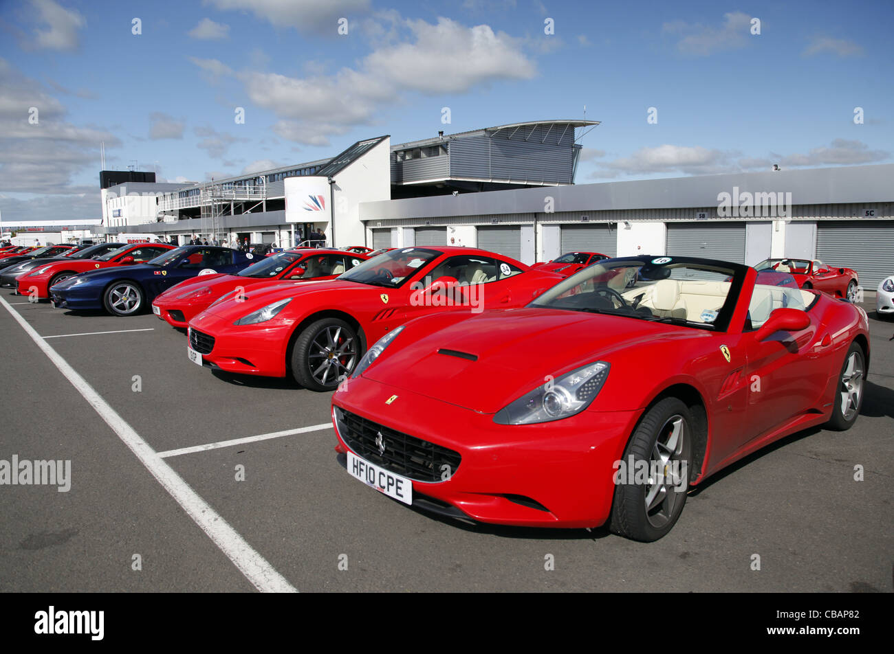 Red Circuit Stock Photos Images Alamy Ferrari California Fuse Box Car Silverstone England 14 September 2011 Image