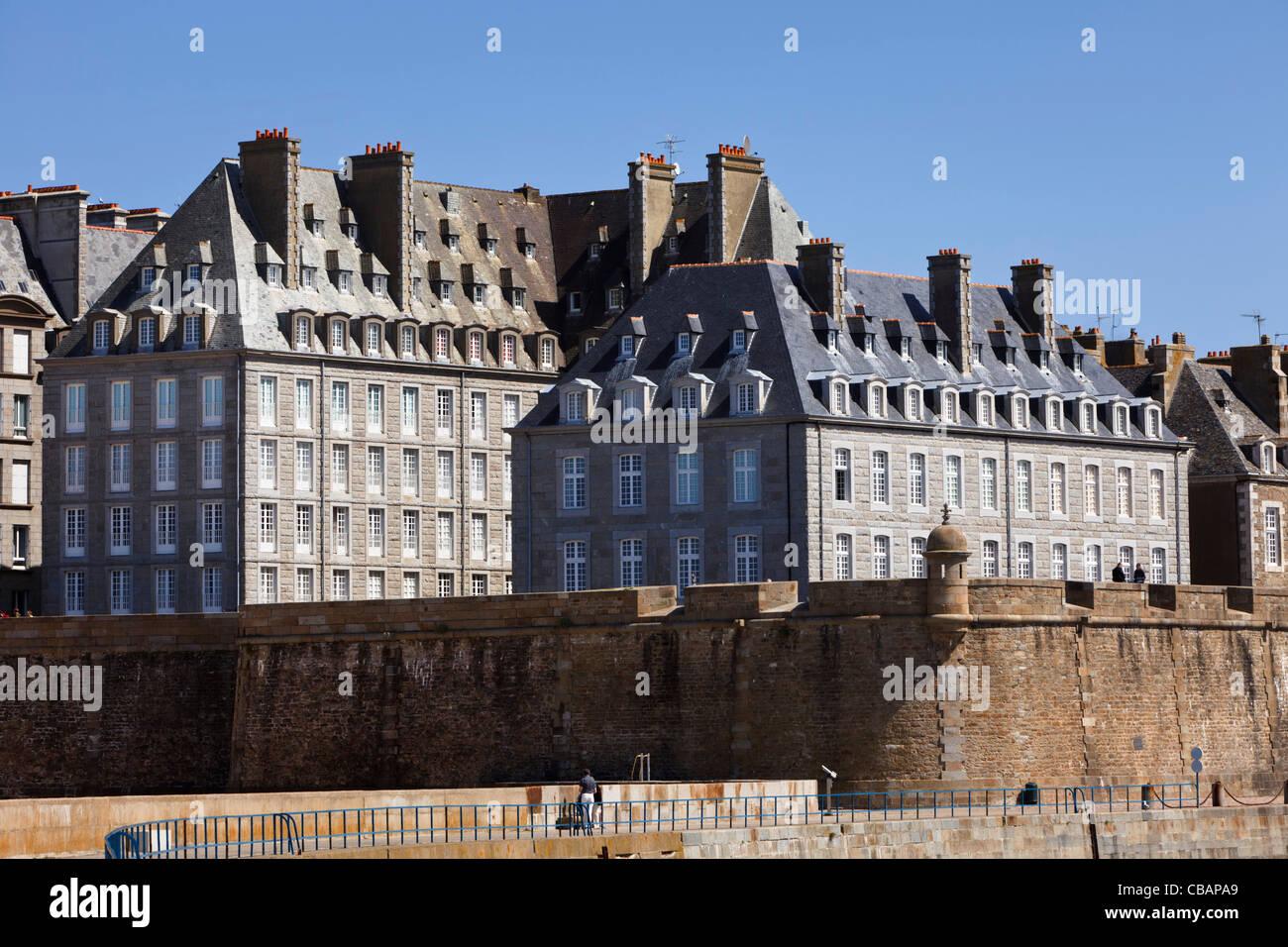 Saint Malo Or St Malo City Walls, Ille Et Vilaine, Brittany, France