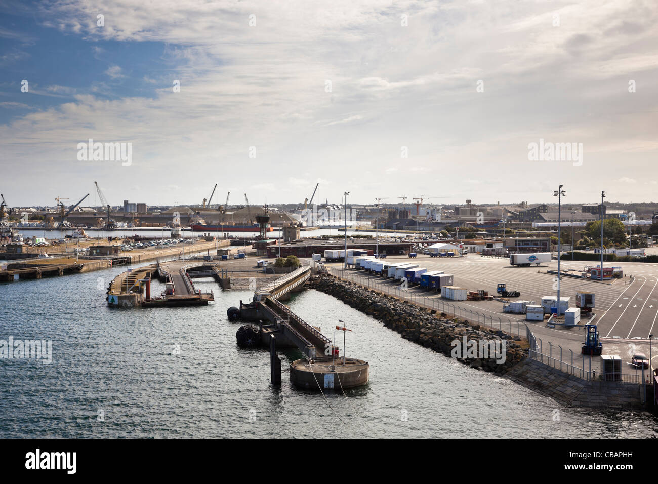 Docks at the port of St Malo, Brittany, France - Stock Image