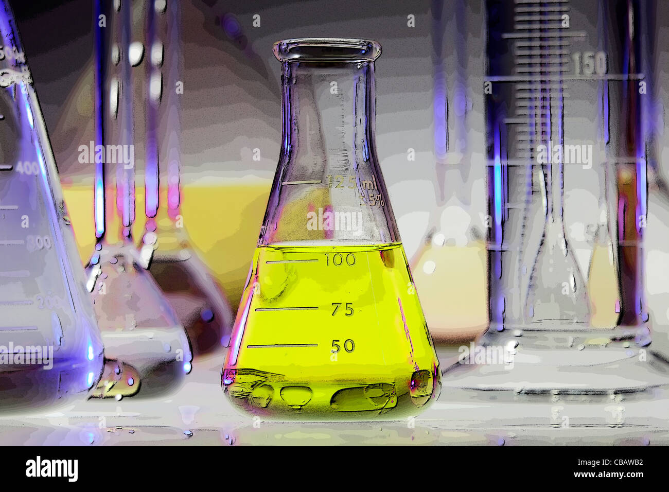 Chemical Glassware - Stock Image