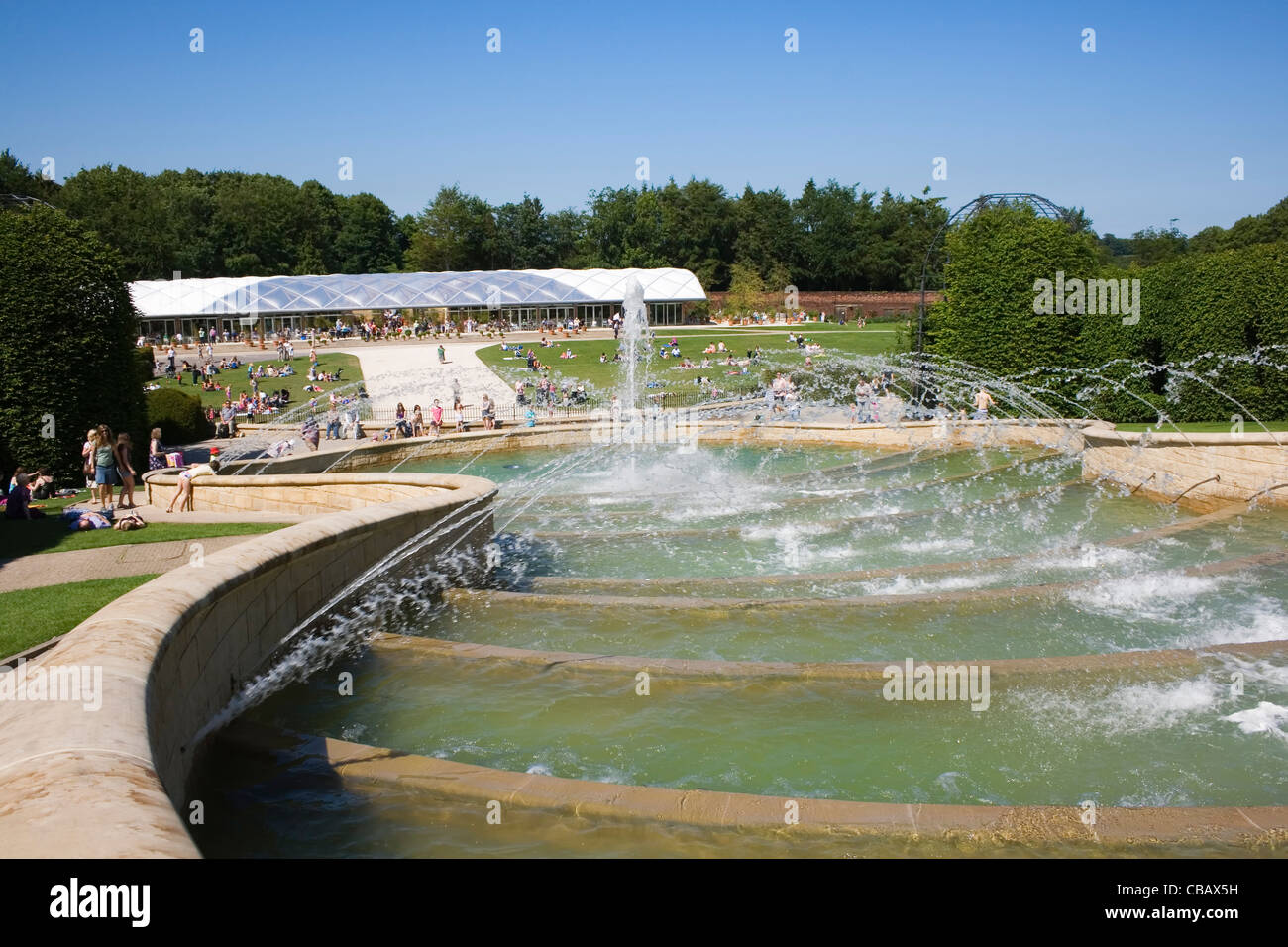 The Cascade fountain at The Alnwick Garden, Alnwick, Northumberland, England. - Stock Image
