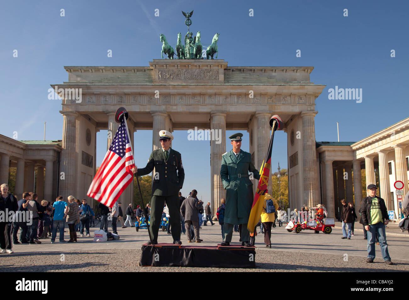 Brandenburg gate in Berlin, Germany Brandenburger Tor in Berlin - Stock Image