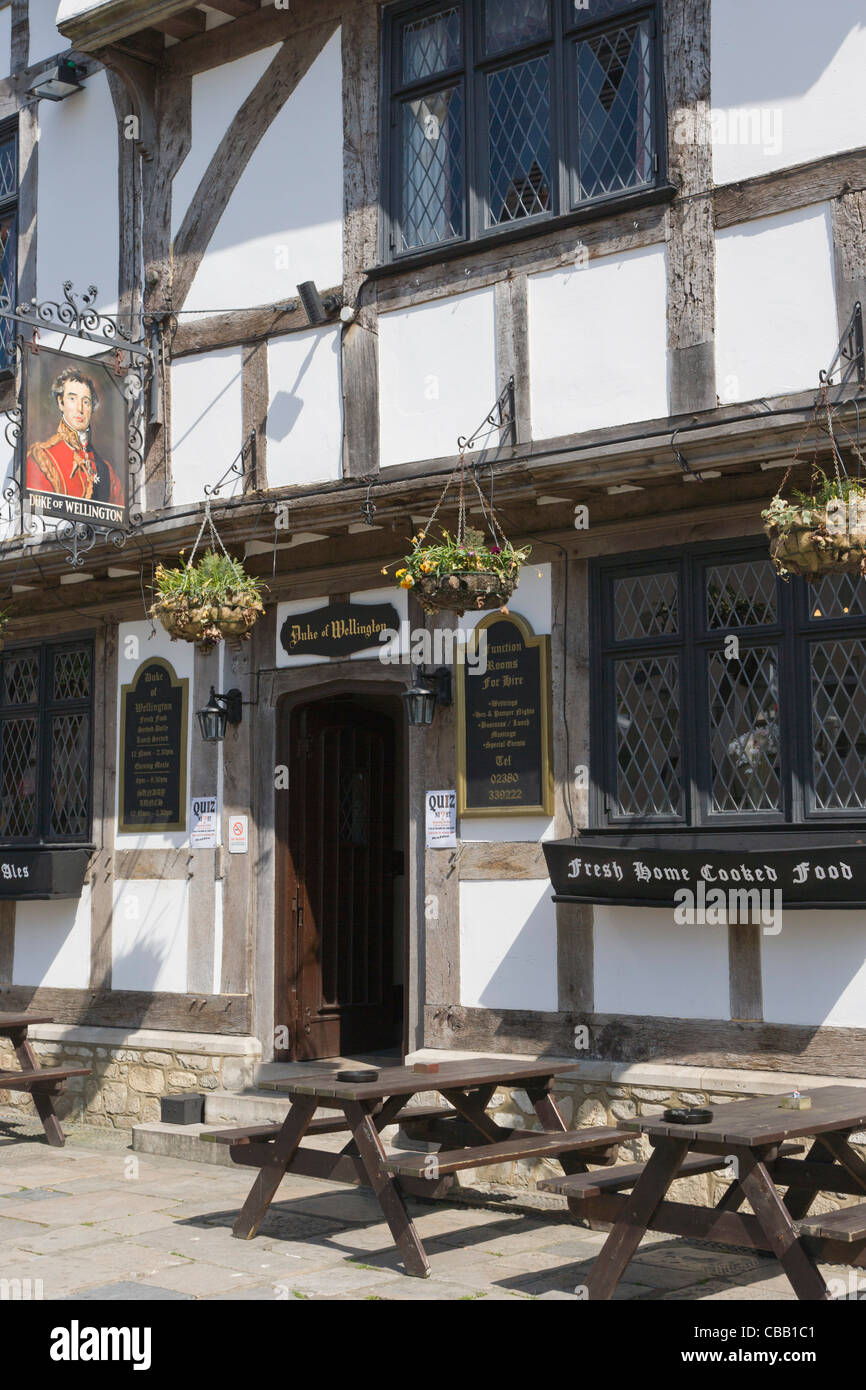 The Duke of Wellington Pub, Bugle Street, Old Town, Southampton, Hampshire, England, UK - Stock Image