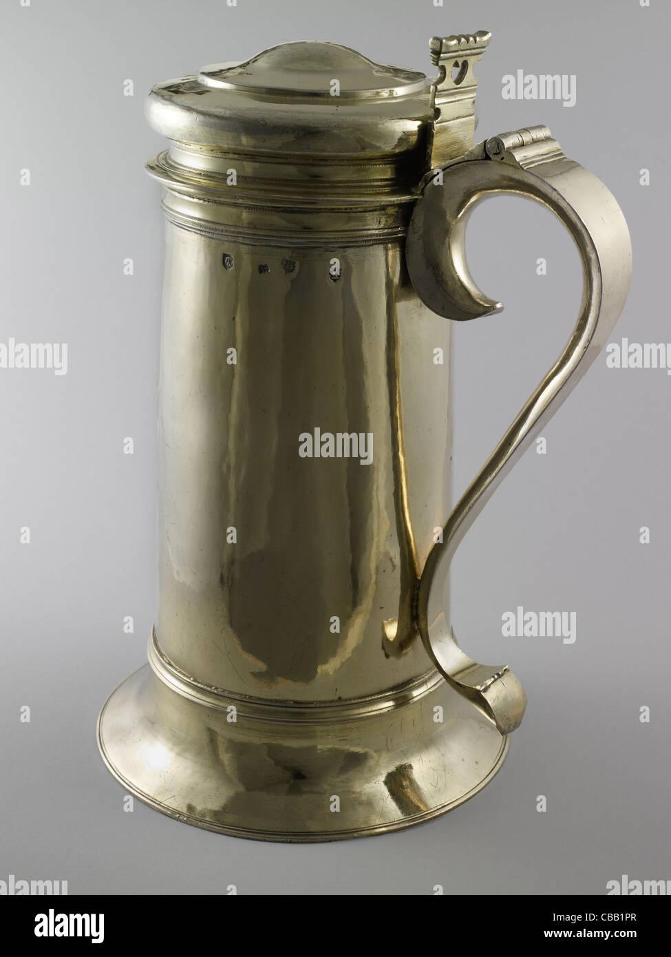 Silver gilt flagon, Gloucester - Stock Image