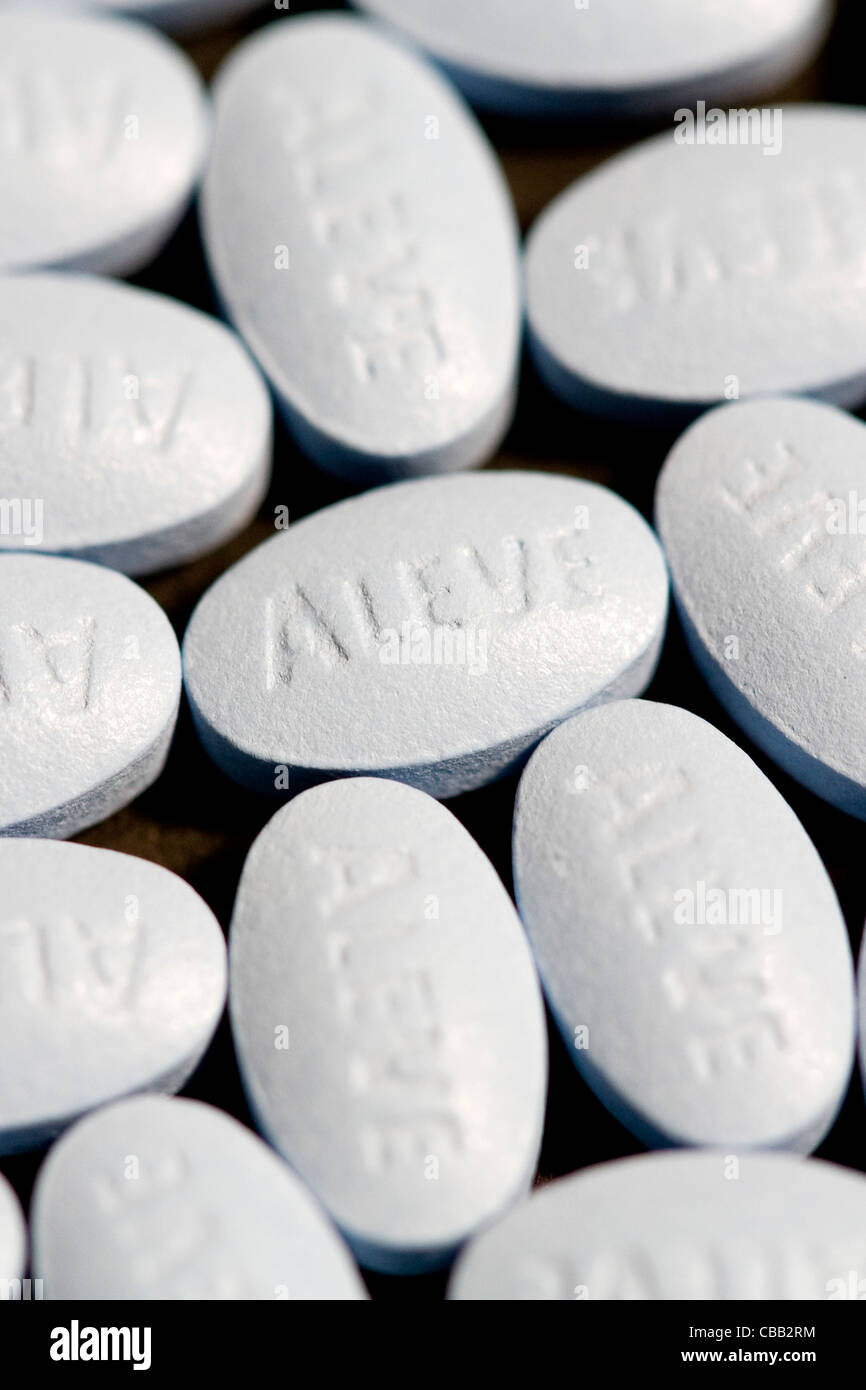 Aleve Naproxen Pills Stock Photo 41425656 Alamy