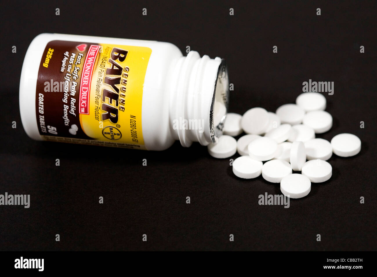 Bayer aspirin pills. - Stock Image