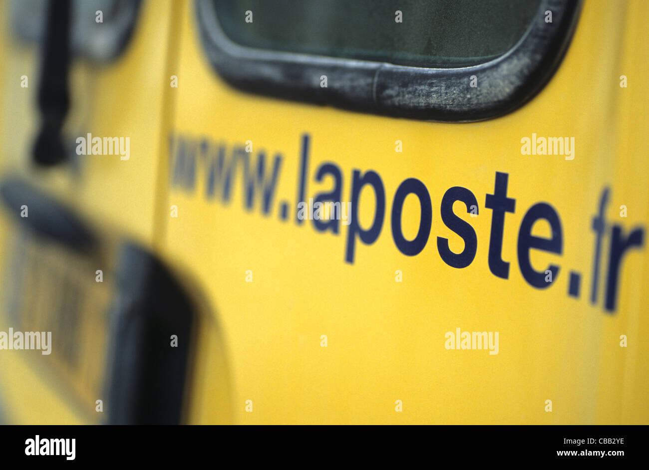 Mail van, France - Stock Image