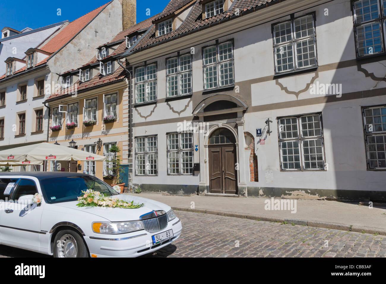 Skarnu iela, Skarnu Street, Old Town, Vecriga, Riga, Latvia - Stock Image