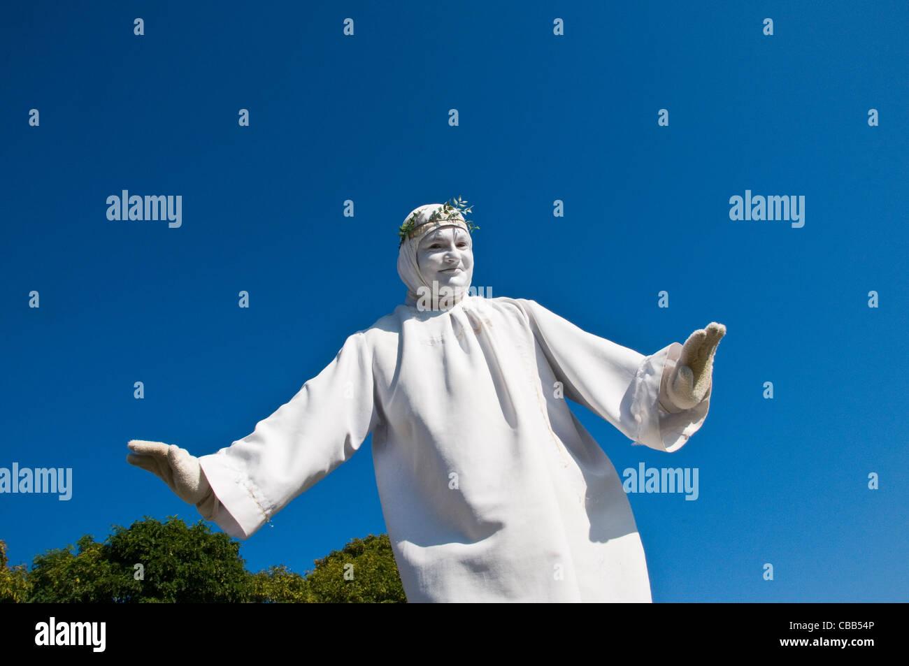 mime artist paris France - Stock Image