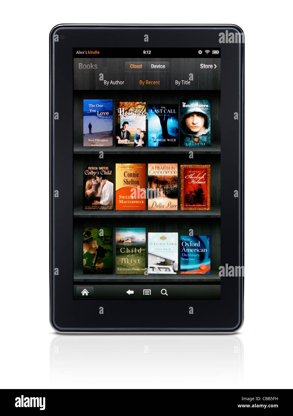 Amazon Kindle Fire tablet computer e-book reader displaying