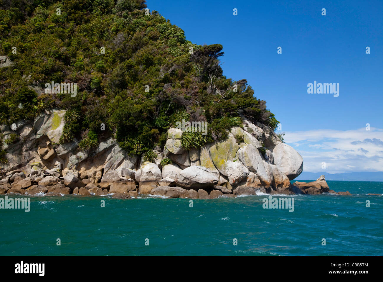 Tonga Island, Kaiteriteri Coast, Abel Tasman National Park, South Island, New Zealand - Stock Image
