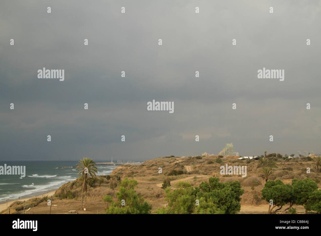 Israel, Coastal Plain, a view of Tel Ashkelon - Stock Image