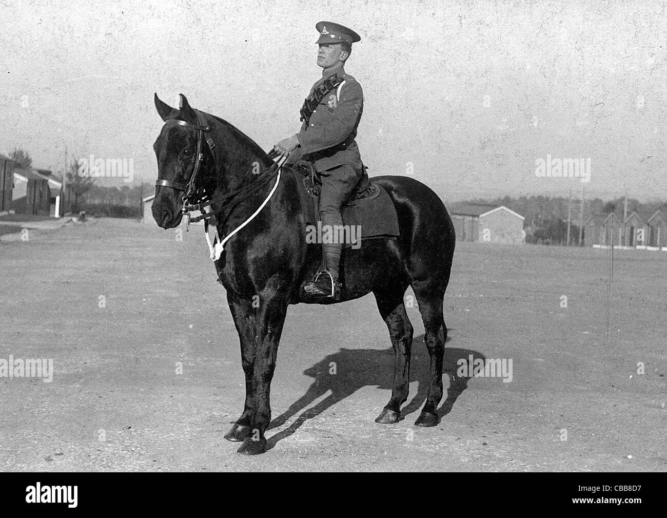 A ww1 mounted trooper - Stock Image