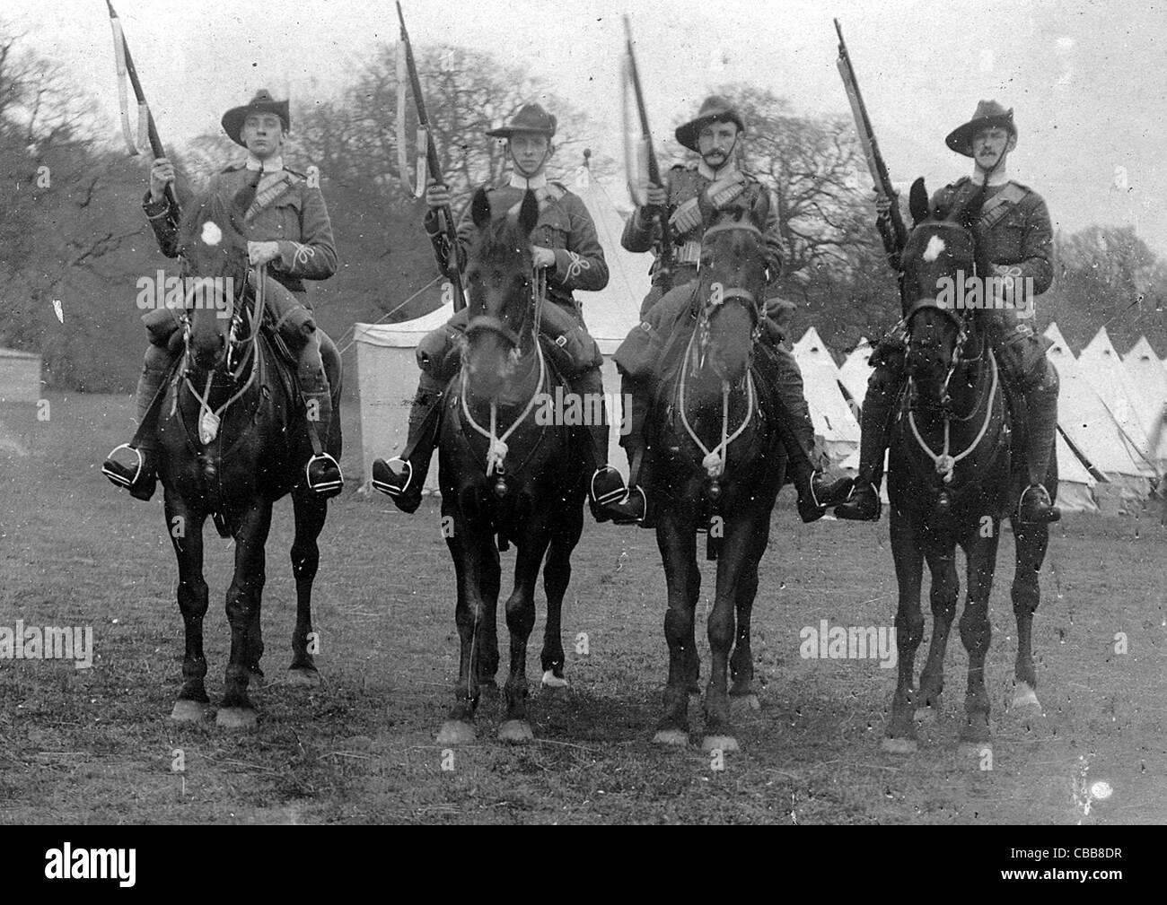 Boer war yeomanry cavalry troo...