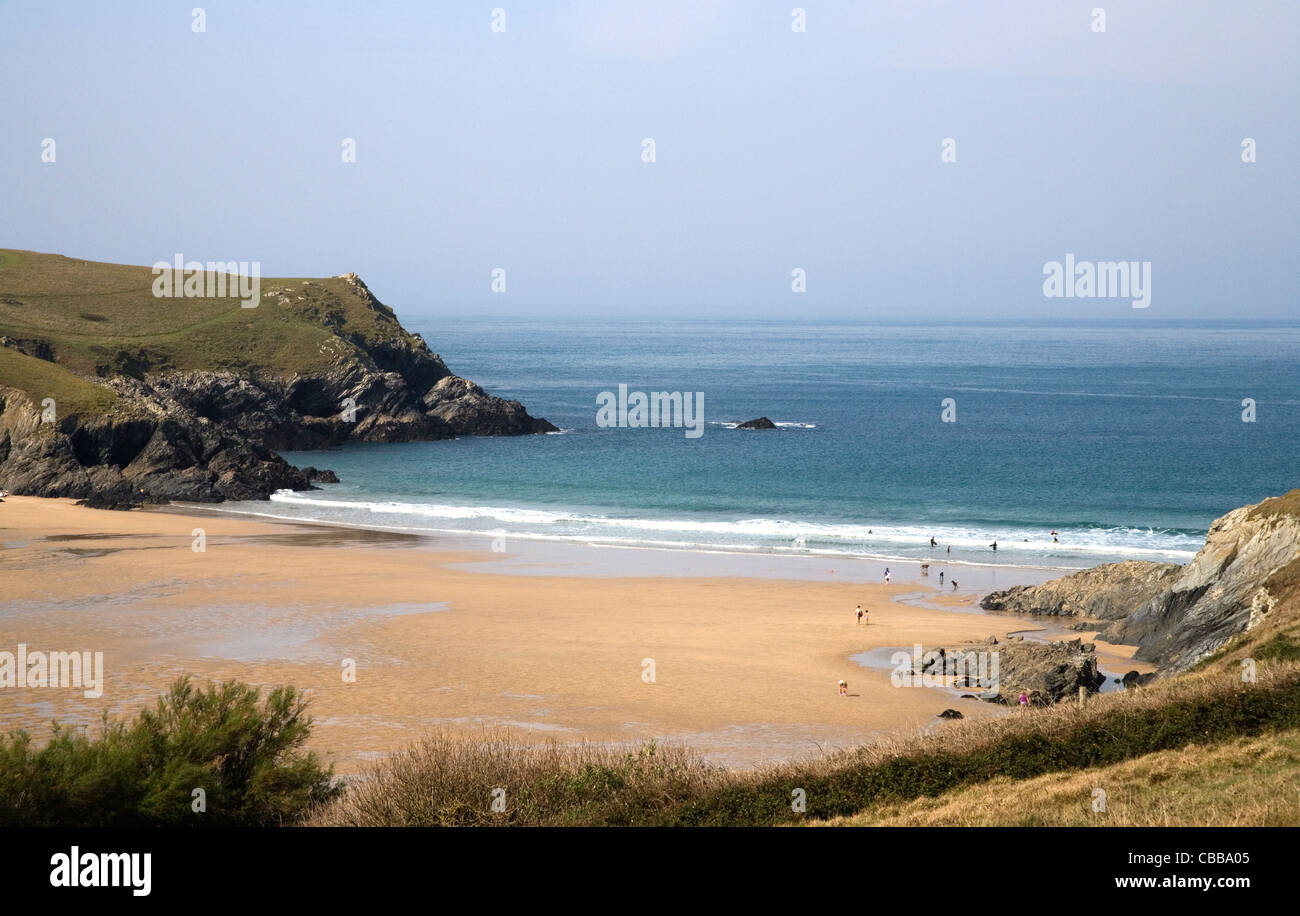 porth joke, locally known as polly joke on the north cornish coast - Stock Image