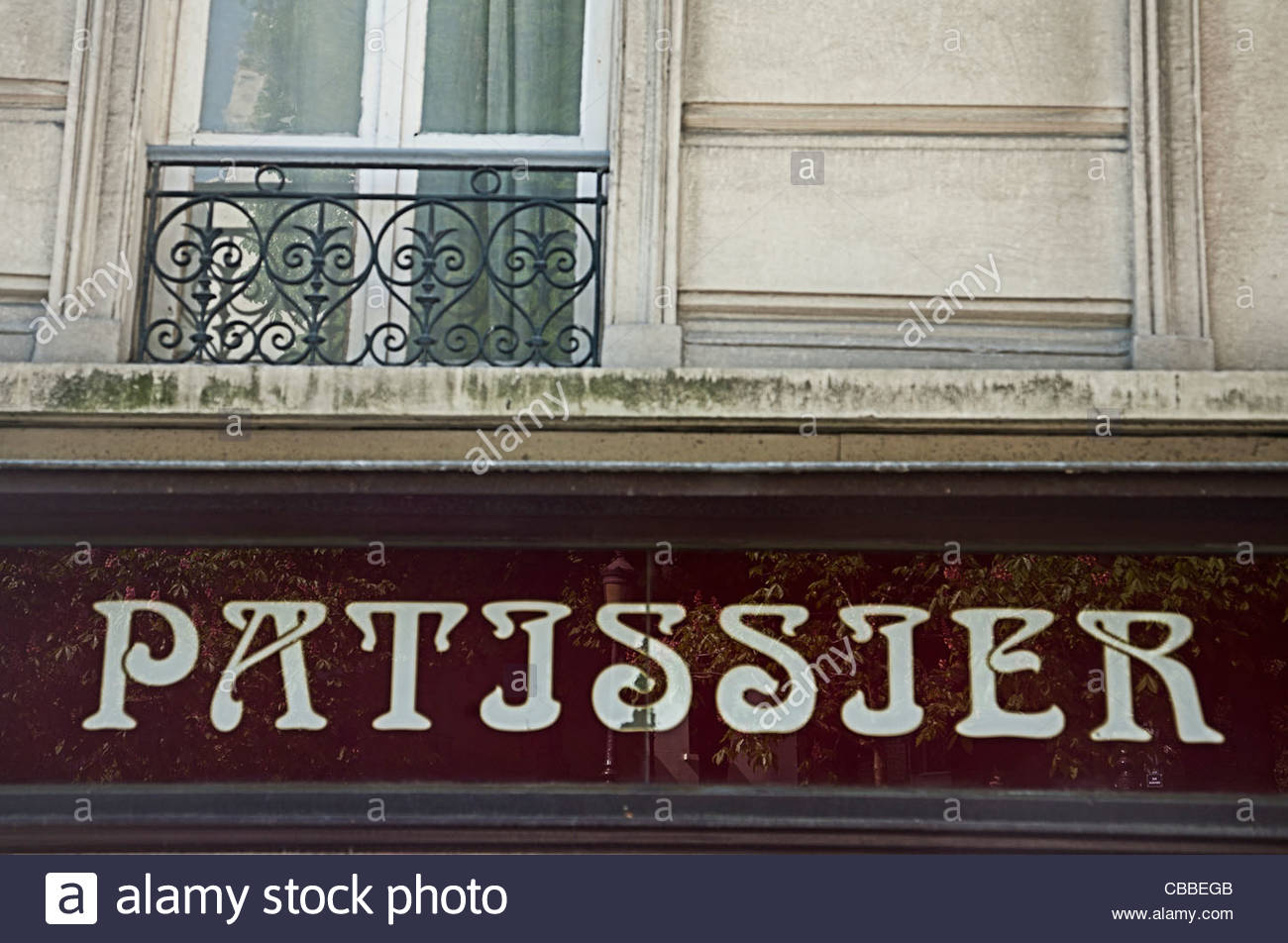 Patissier sign on French street Stock Photo