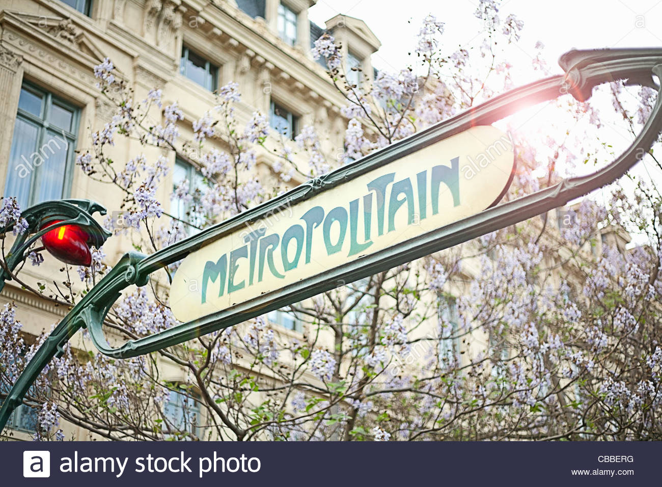 Metro sign in Paris - Stock Image