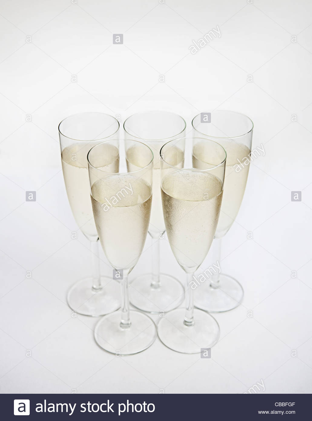 Glasses of champagne - Stock Image