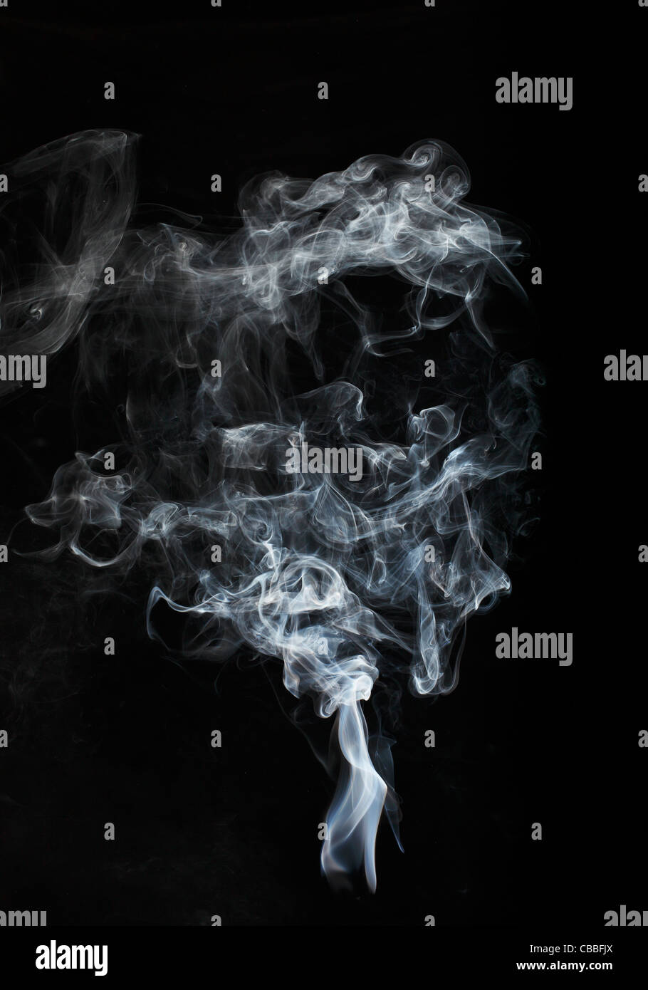 Up in smoke - Stock Image