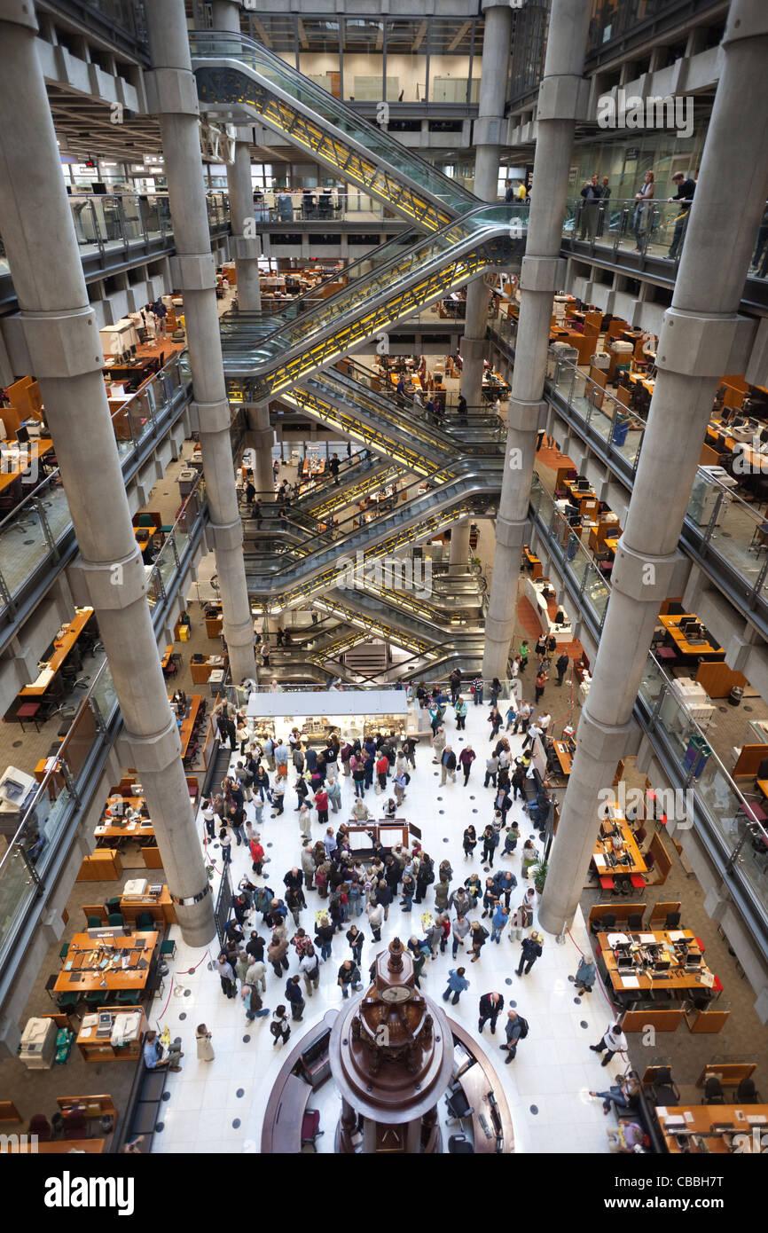 England London City Of London Interior Of Lloyds Insurance Stock Photo 41436972 Alamy
