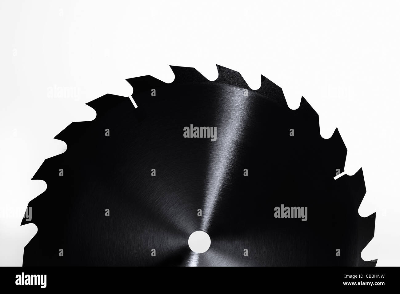 Close up of saw blade - Stock Image