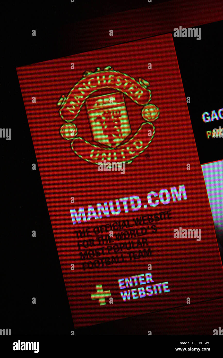 manutd.com website - Stock Image
