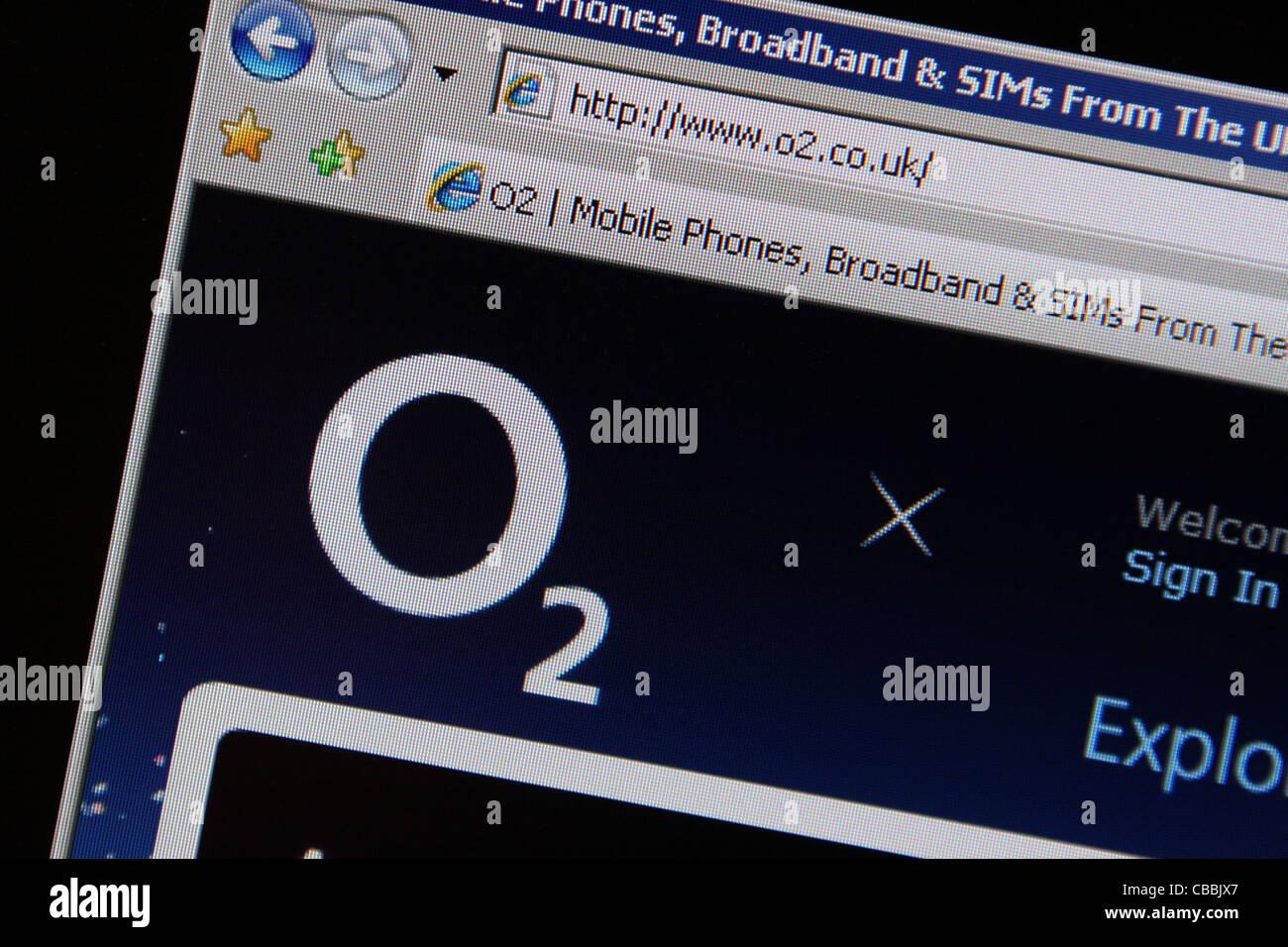 o2 website online - Stock Image