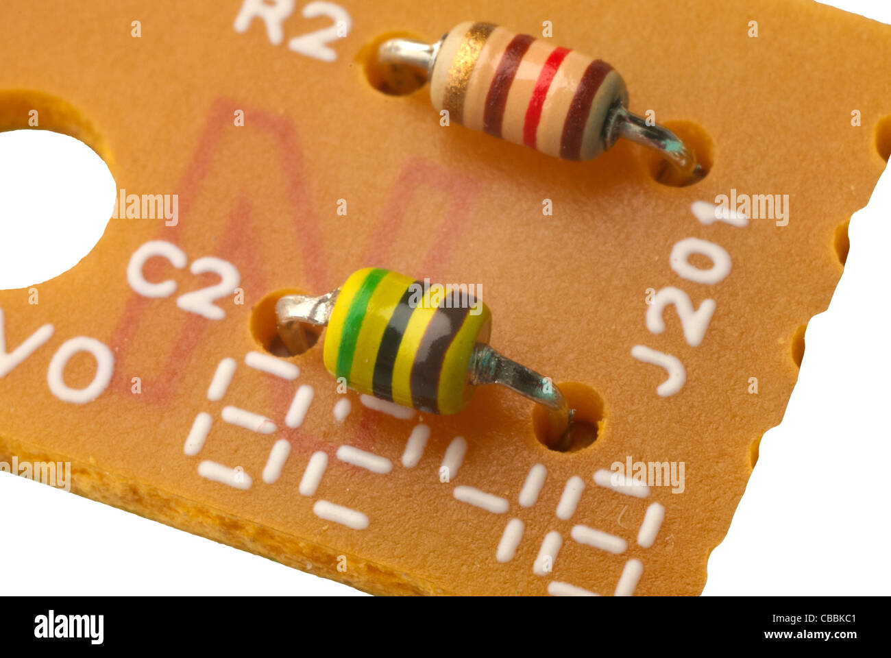 card chip circuit closeup color colorful component components computer connection decoration design digital electric - Stock Image