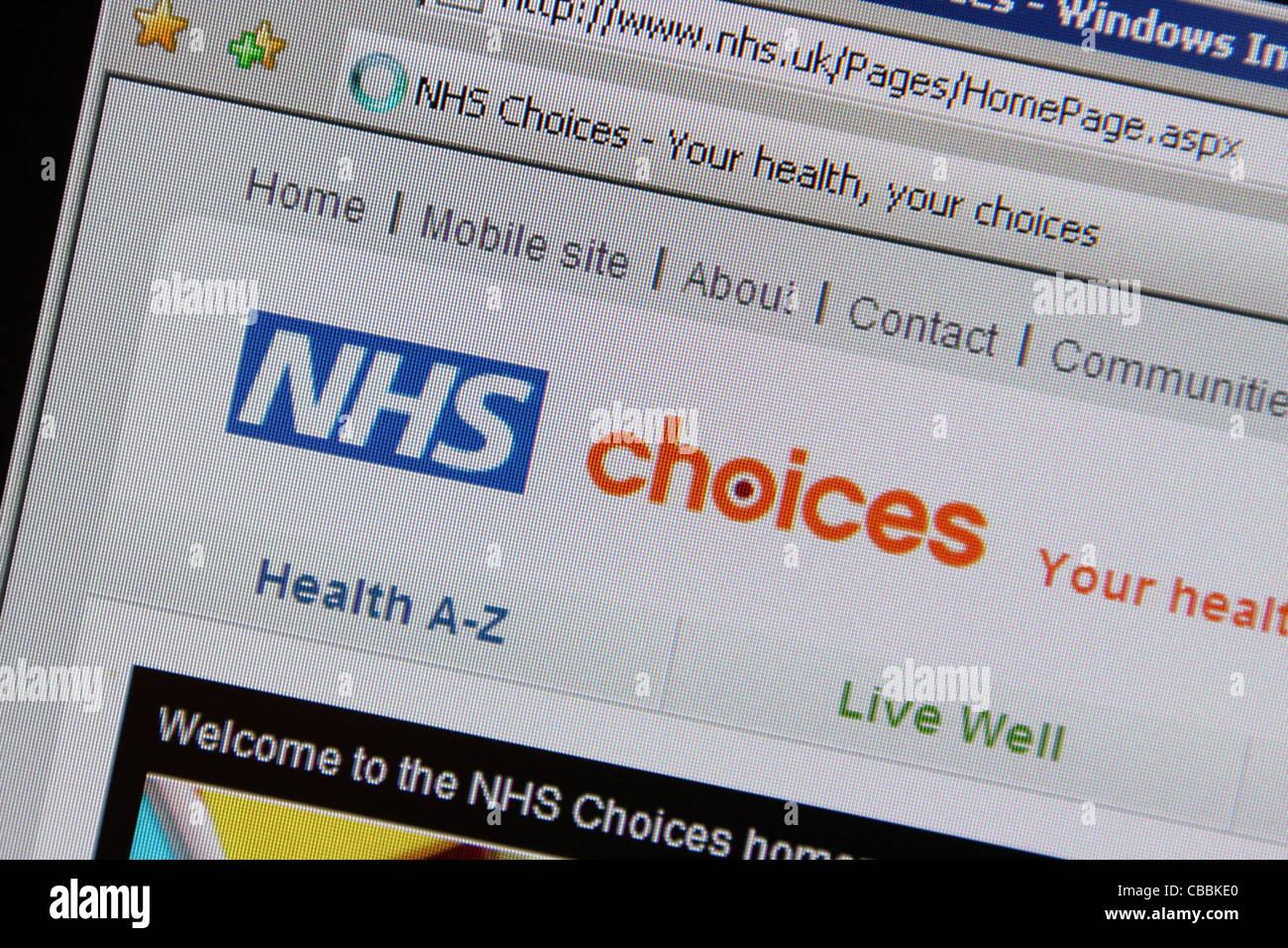 nhs national heath service website nhs.uk website - Stock Image