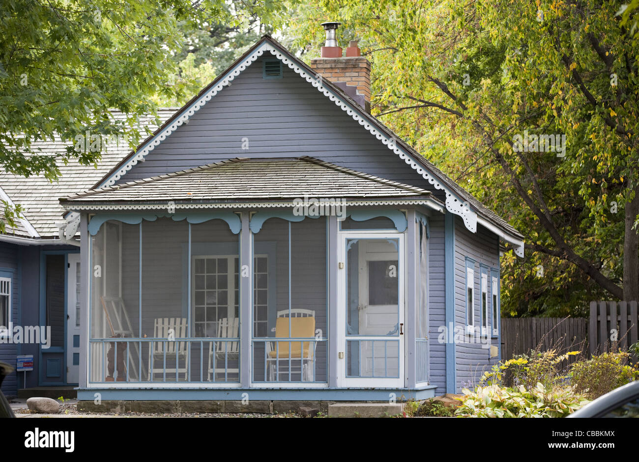 The Loren L. Chadwick Cottage is located in the Linden Hills neighborhood of Minneapolis, Minnesota. - Stock Image