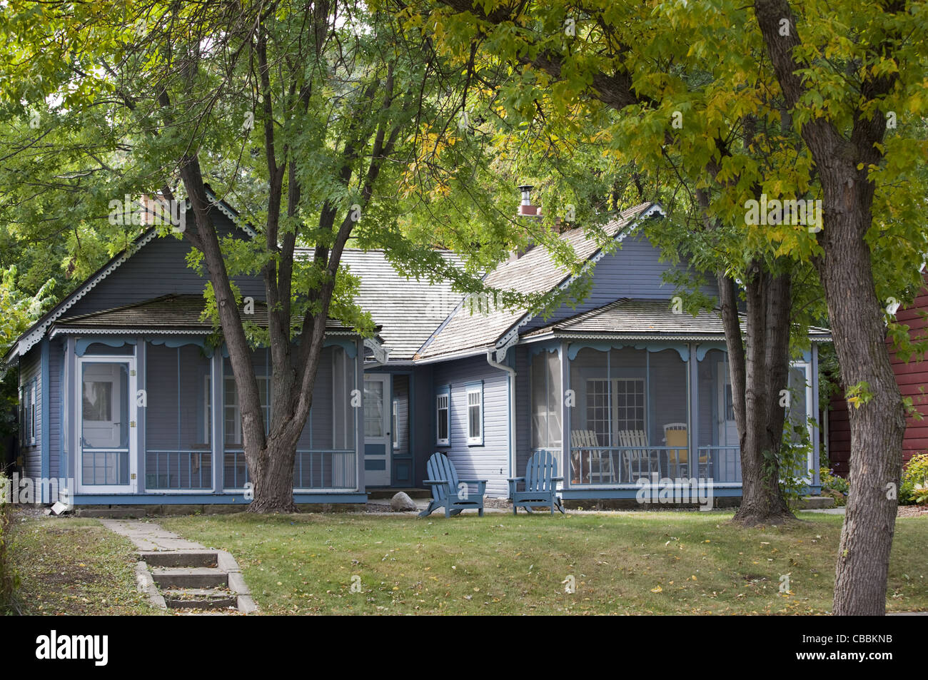 The Loren L. Chadwick Cottages are located in the Linden Hills neighborhood of Minneapolis, Minnesota. - Stock Image