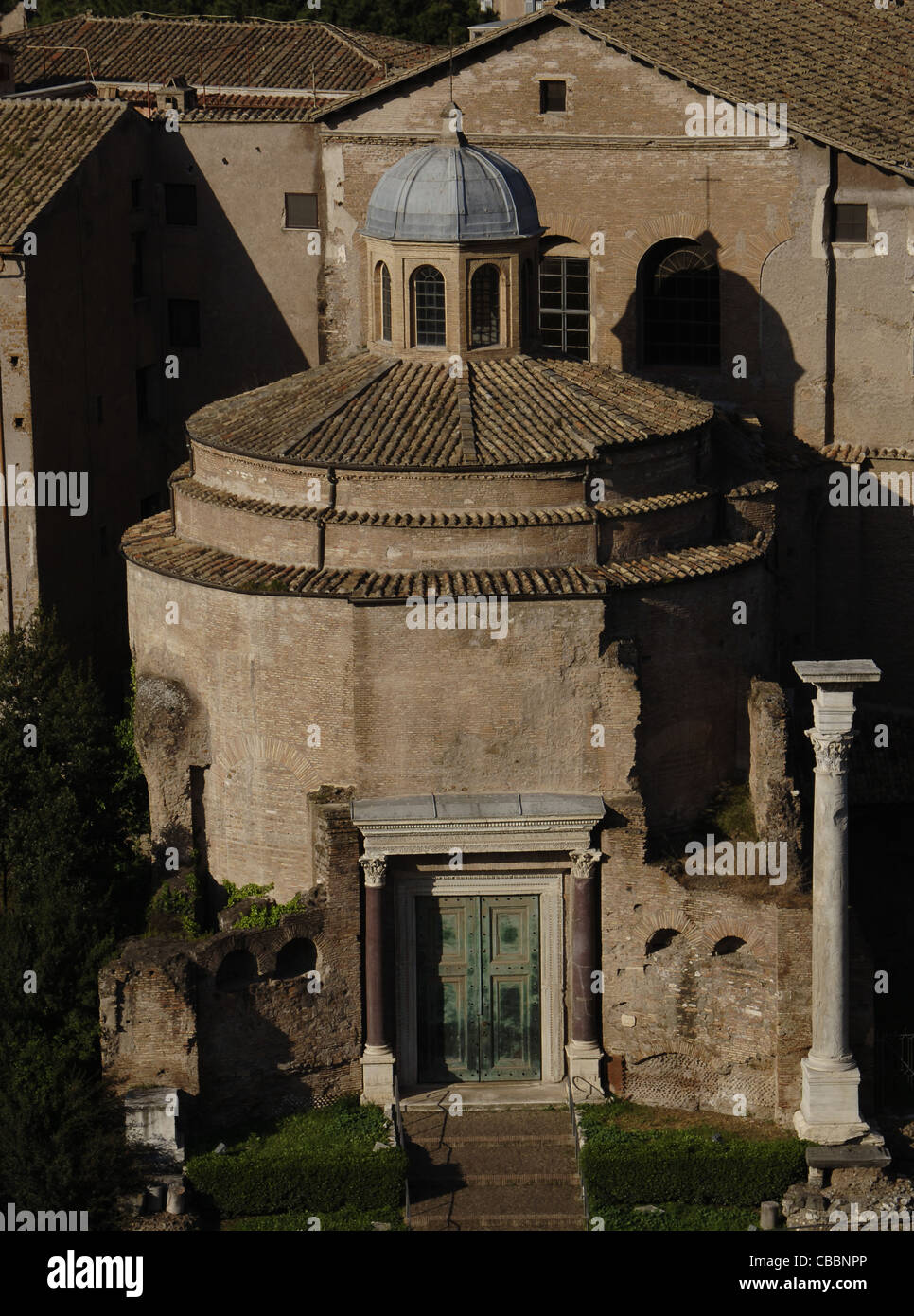 Italy. Rome. Temple of Romulus. Exterior. Roman Forum. - Stock Image