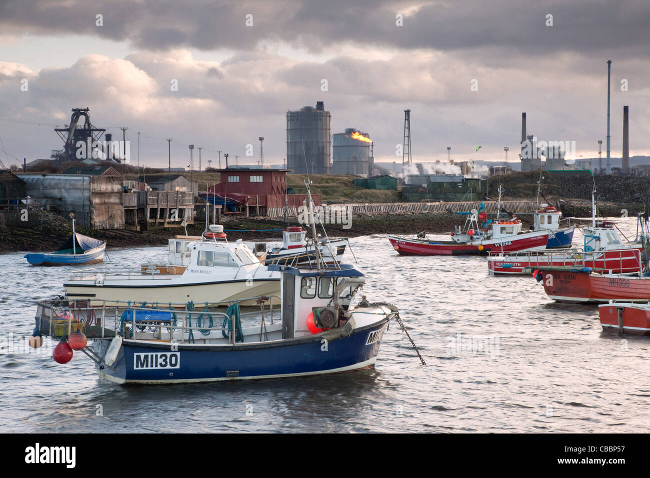 Tata Steel Works from Paddys Hole - Stock Image